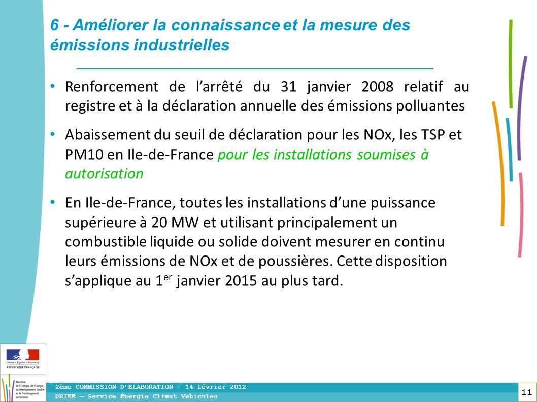 6 - Améliorer la connaissance et la mesure des émissions industrielles