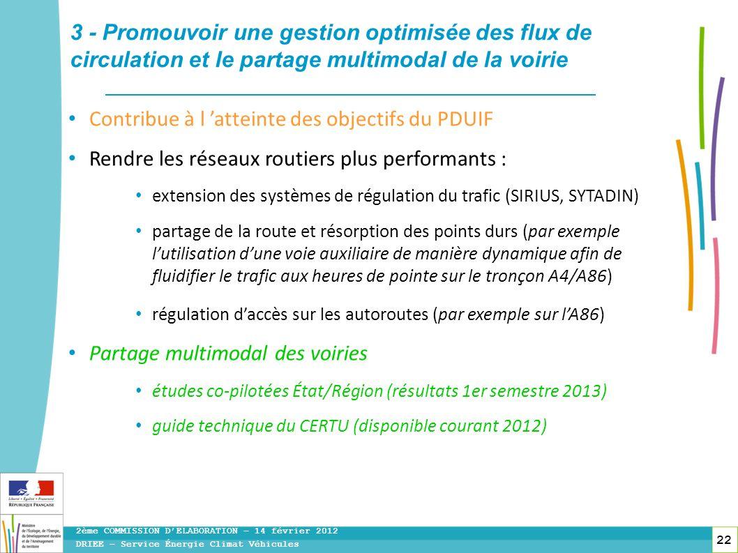 3 - Promouvoir une gestion optimisée des flux de