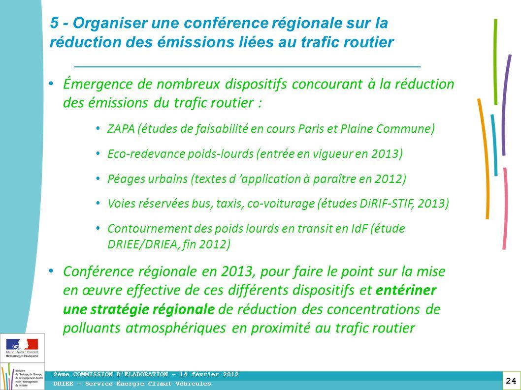 5 - Organiser une conférence régionale sur la