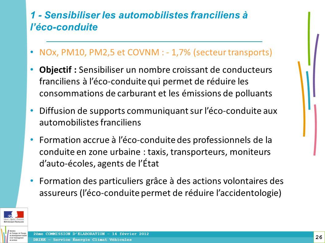 1 - Sensibiliser les automobilistes franciliens à l'éco-conduite