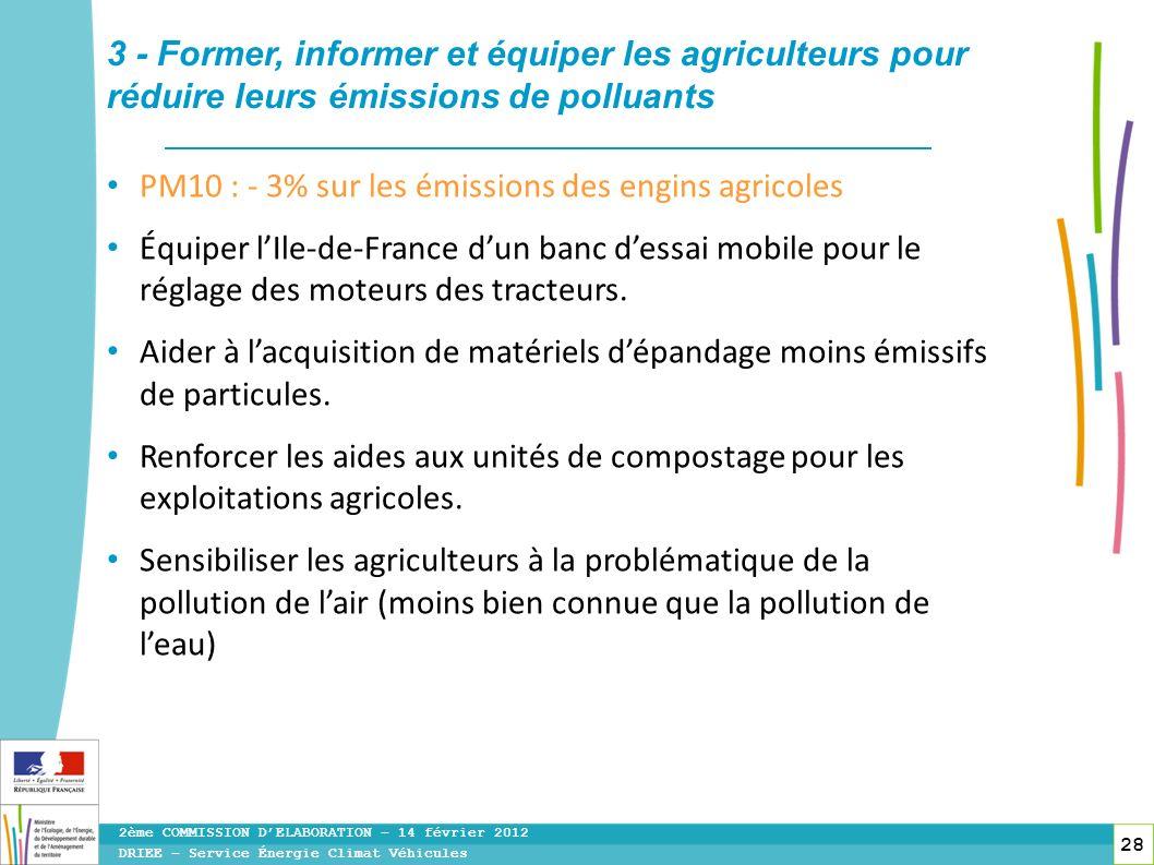 3 - Former, informer et équiper les agriculteurs pour