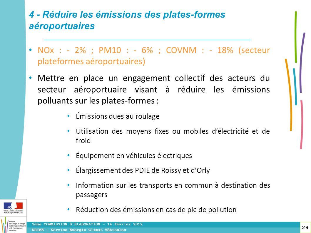 4 - Réduire les émissions des plates-formes aéroportuaires