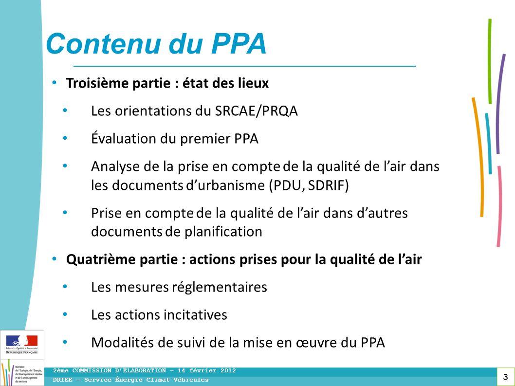 Contenu du PPA Troisième partie : état des lieux
