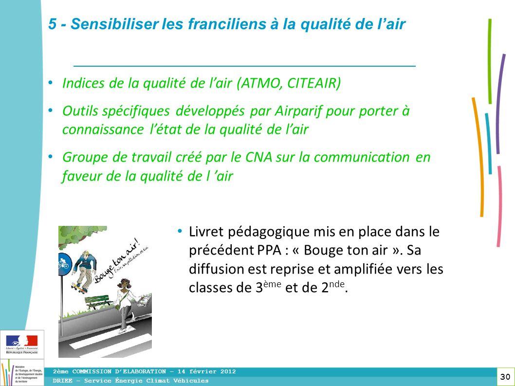 5 - Sensibiliser les franciliens à la qualité de l'air