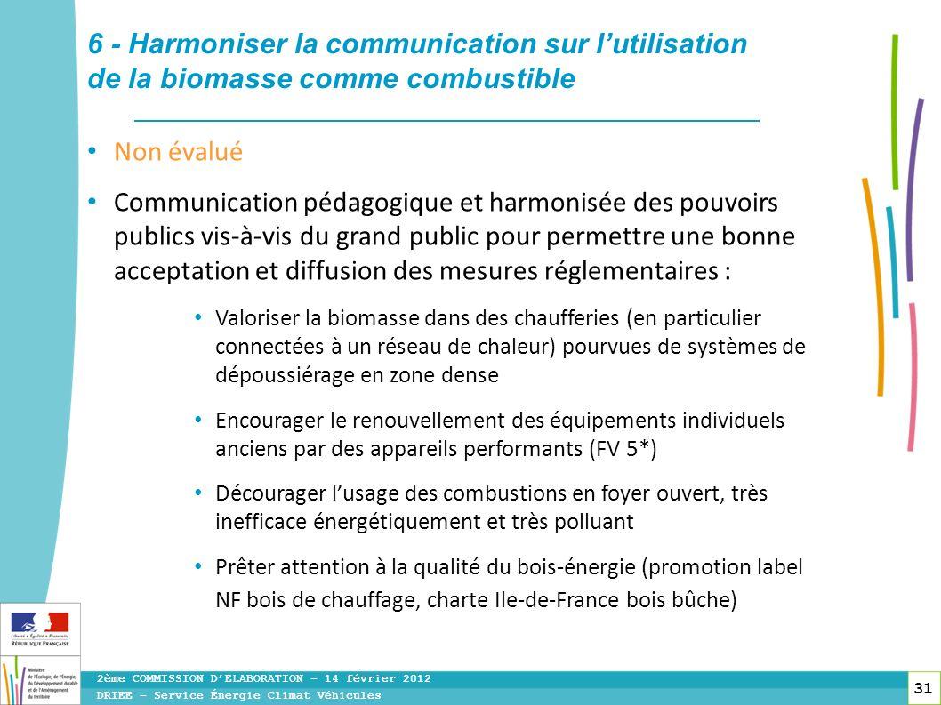 6 - Harmoniser la communication sur l'utilisation