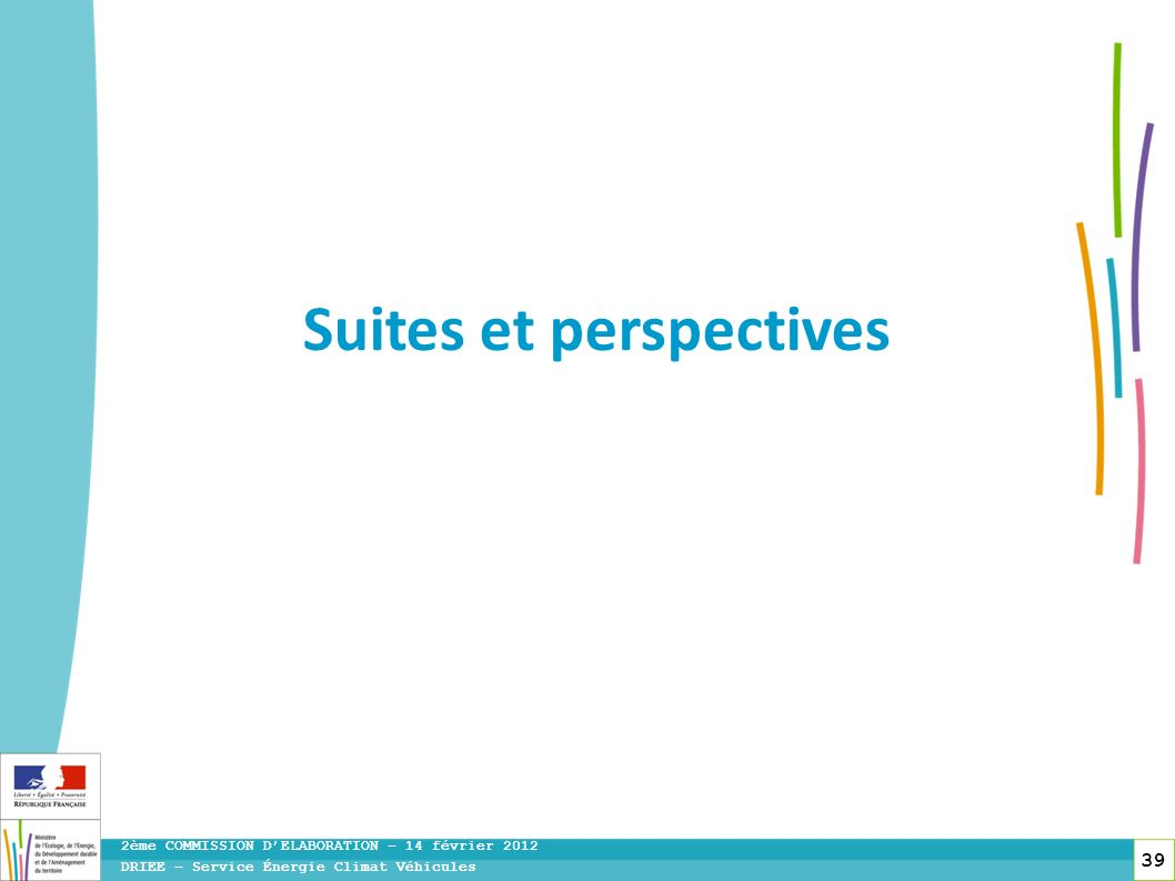 Suites et perspectives