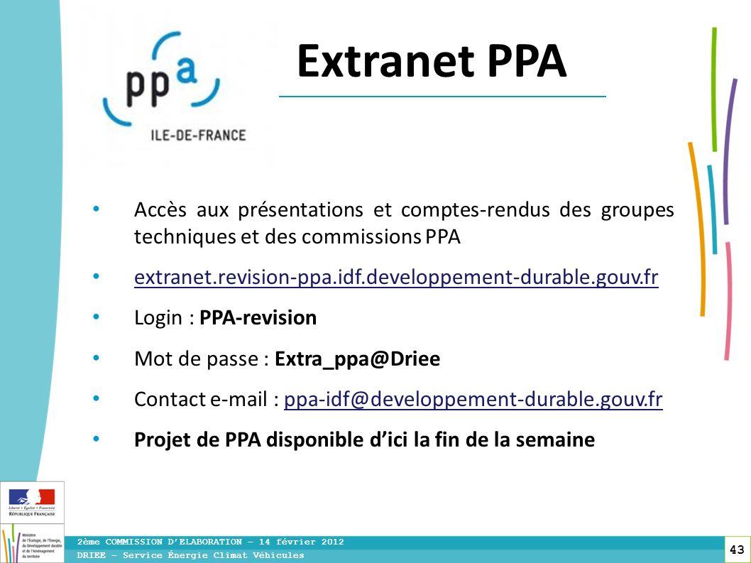 toitototototoot toitototototoot. Extranet PPA. Accès aux présentations et comptes-rendus des groupes techniques et des commissions PPA.