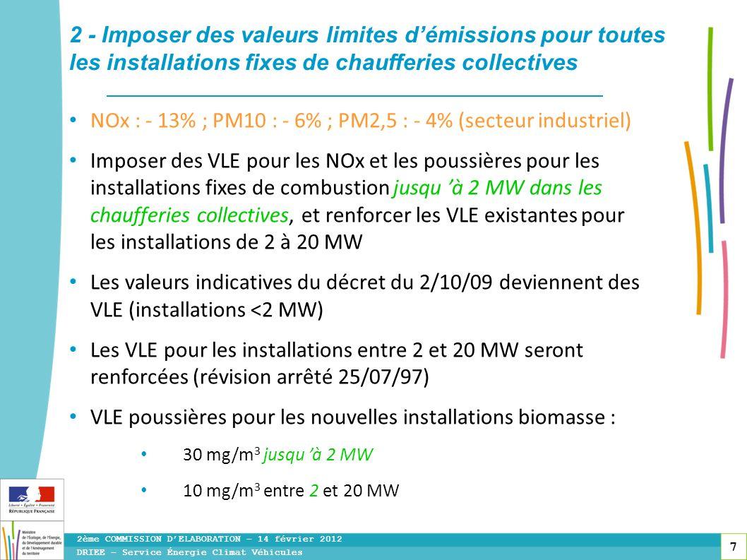 2 - Imposer des valeurs limites d'émissions pour toutes