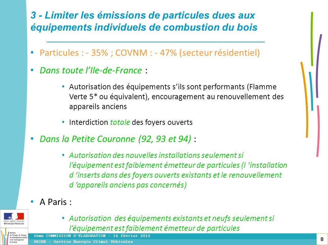 3 - Limiter les émissions de particules dues aux