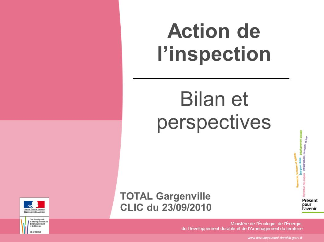 Action de l'inspection Bilan et perspectives