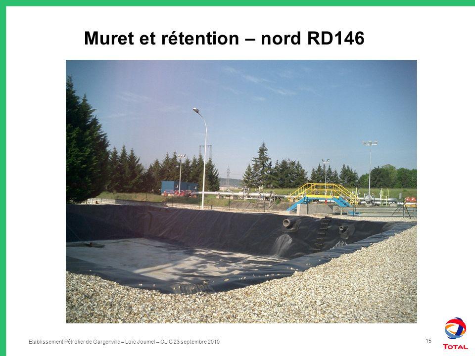 Muret et rétention – nord RD146