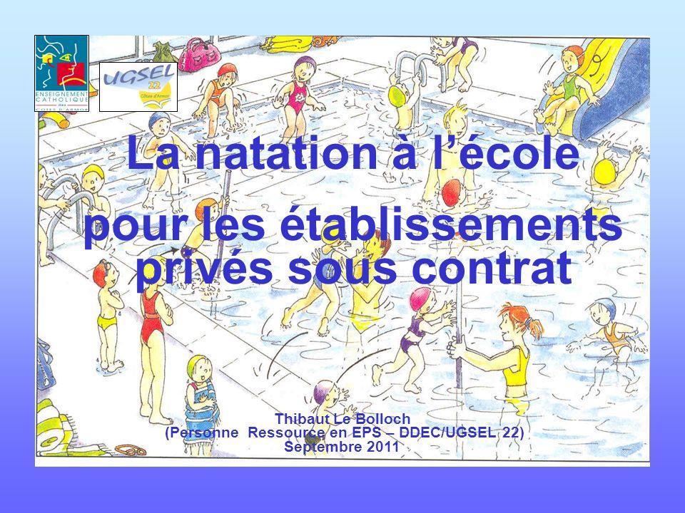 La natation à l'école pour les établissements privés sous contrat
