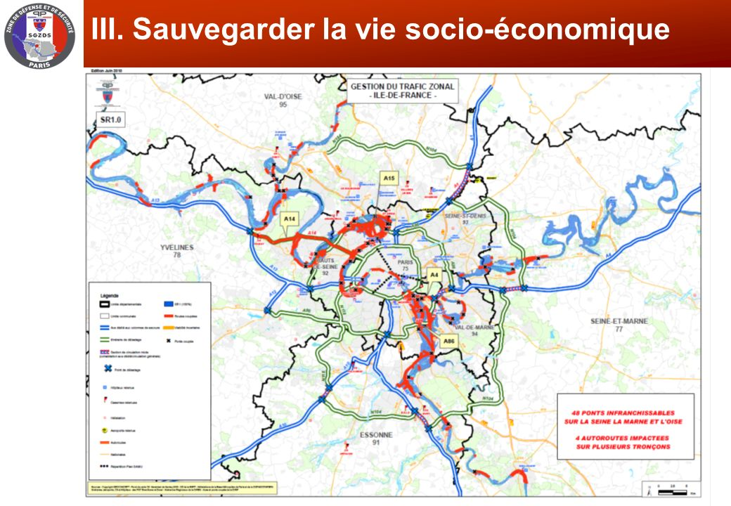 III. Sauvegarder la vie socio-économique