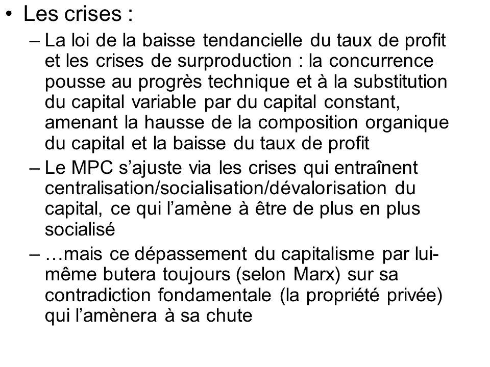 Les crises :