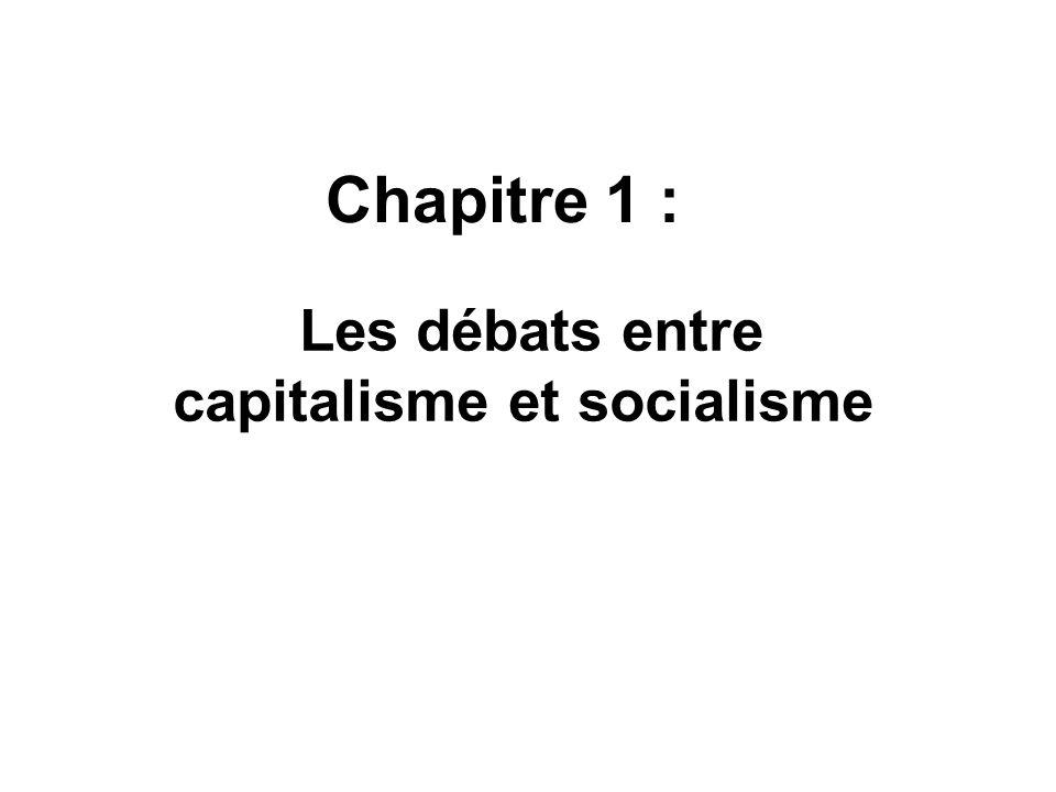 Les débats entre capitalisme et socialisme