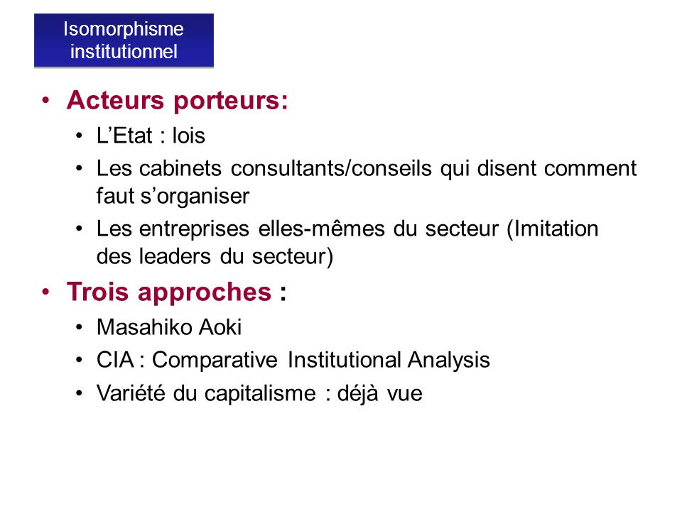 Isomorphisme institutionnel