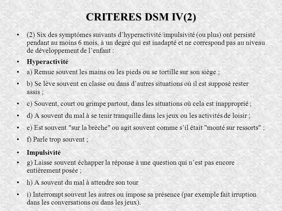 CRITERES DSM IV(2)