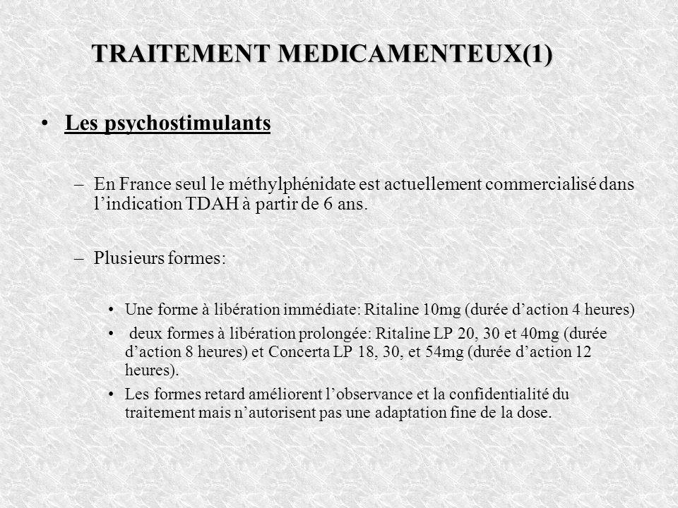 TRAITEMENT MEDICAMENTEUX(1)