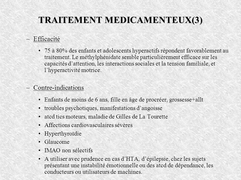 TRAITEMENT MEDICAMENTEUX(3)