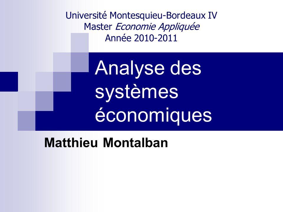 Analyse des systèmes économiques