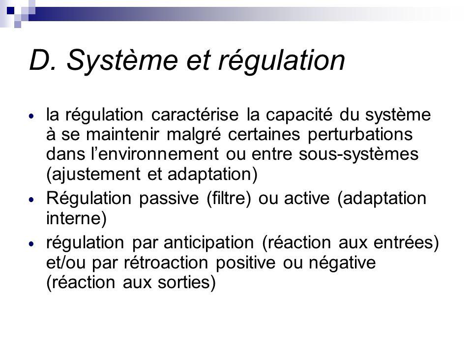 D. Système et régulation