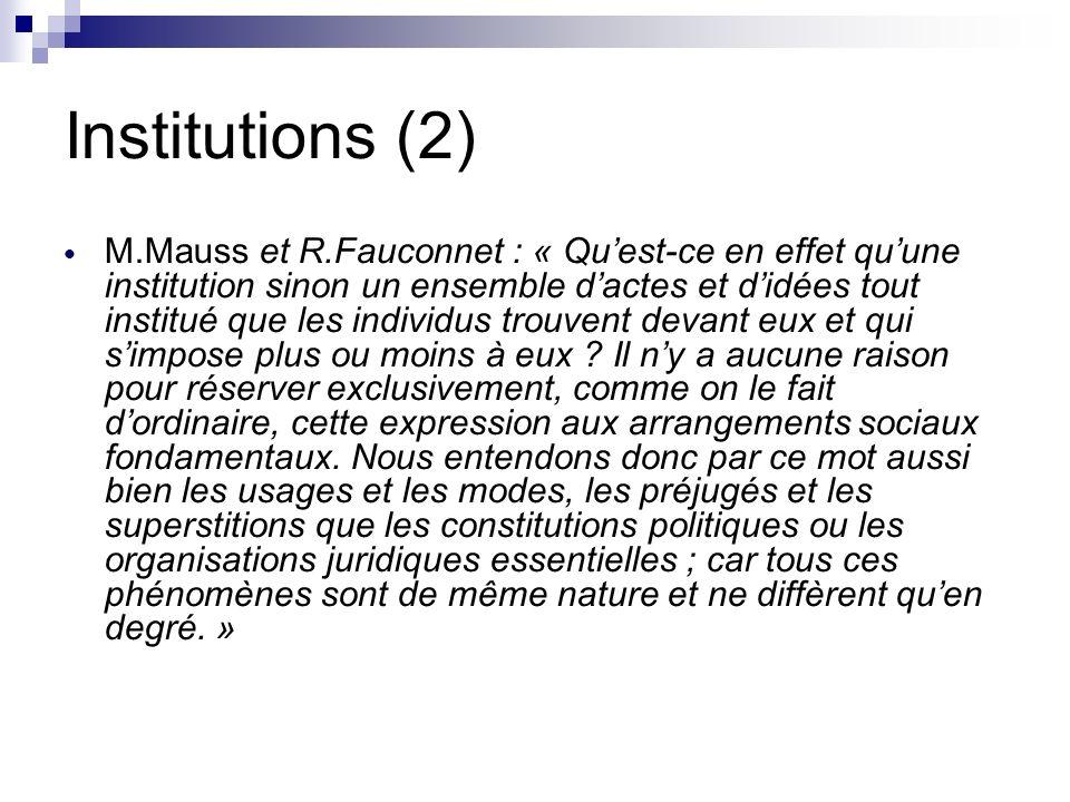 Institutions (2)