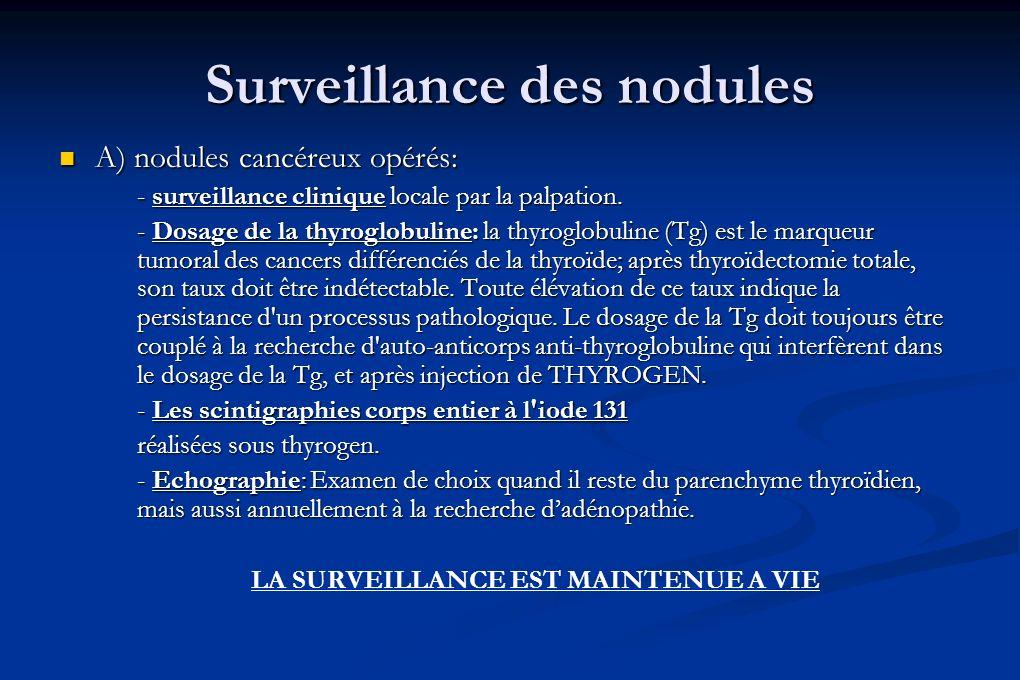 Surveillance des nodules