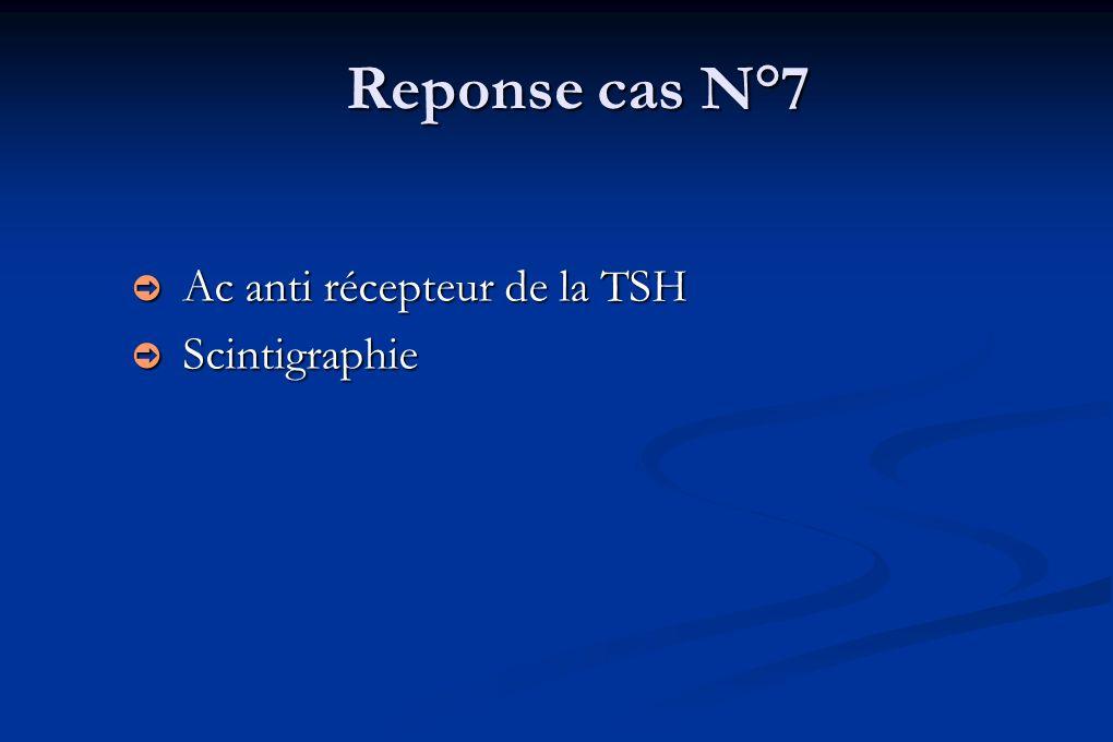 Reponse cas N°7 Ac anti récepteur de la TSH Scintigraphie