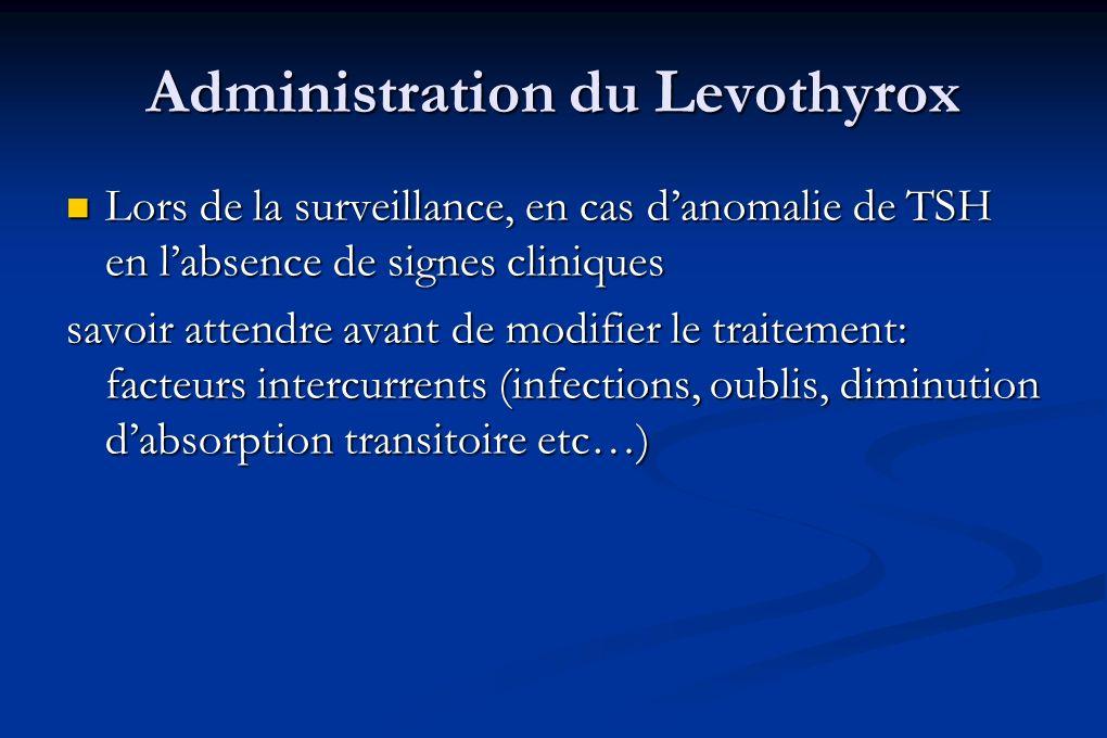 Administration du Levothyrox
