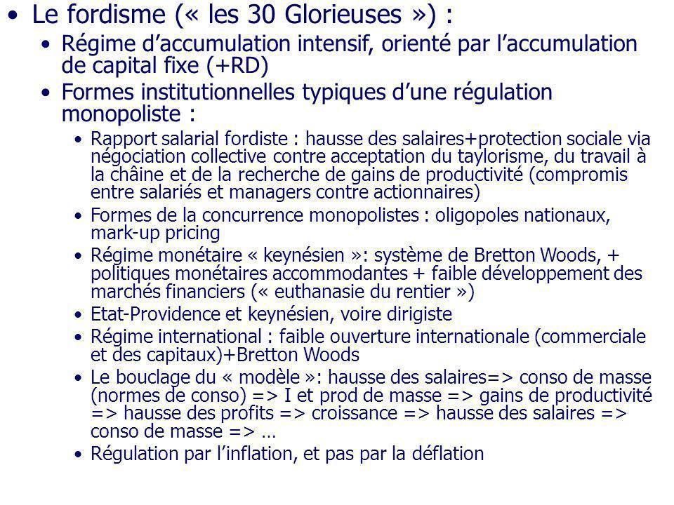 Le fordisme (« les 30 Glorieuses ») :