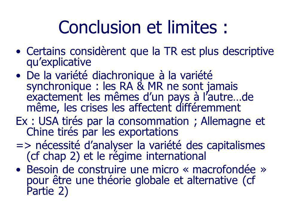 Conclusion et limites :