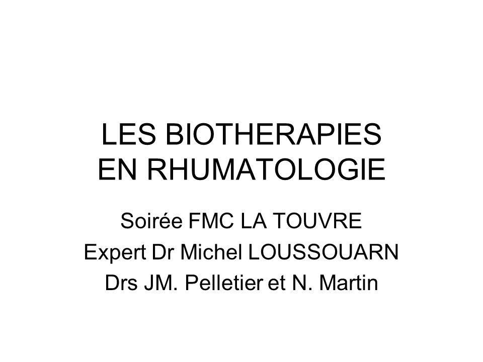 LES BIOTHERAPIES EN RHUMATOLOGIE