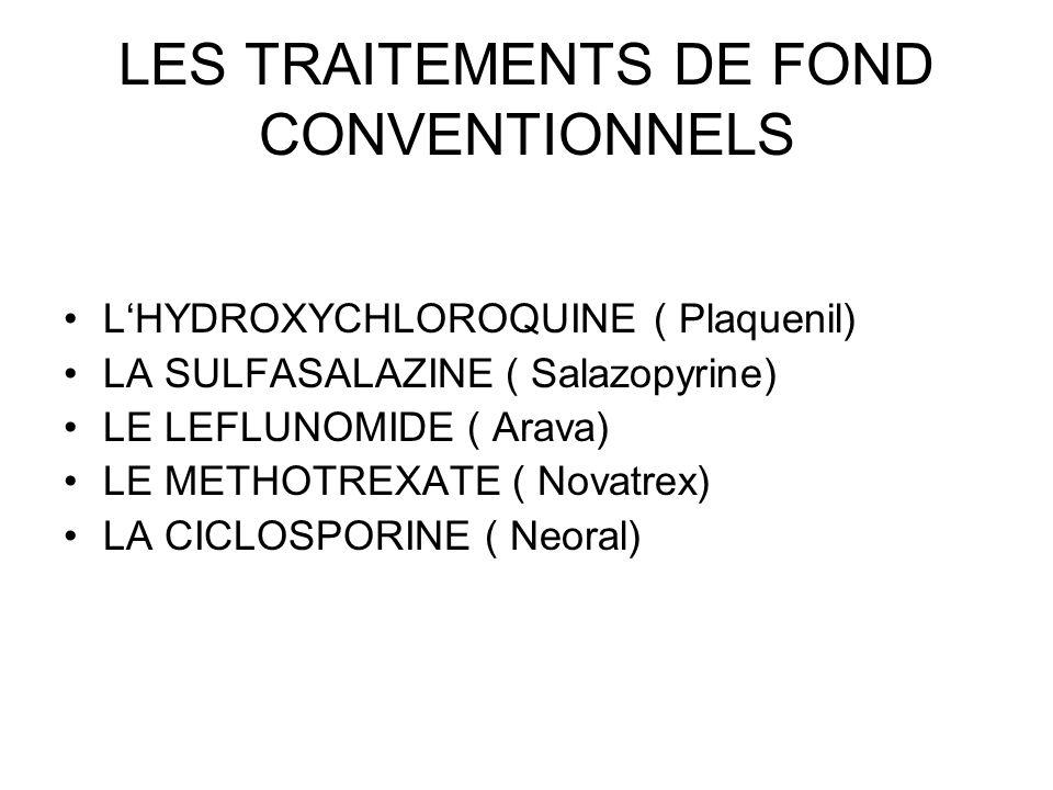 LES TRAITEMENTS DE FOND CONVENTIONNELS