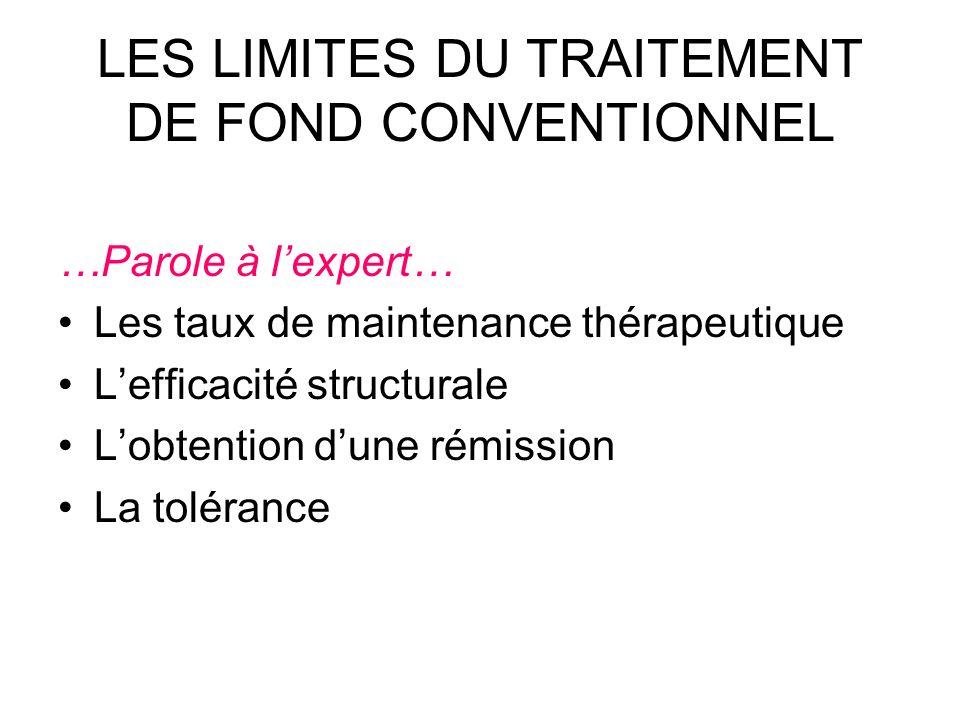 LES LIMITES DU TRAITEMENT DE FOND CONVENTIONNEL