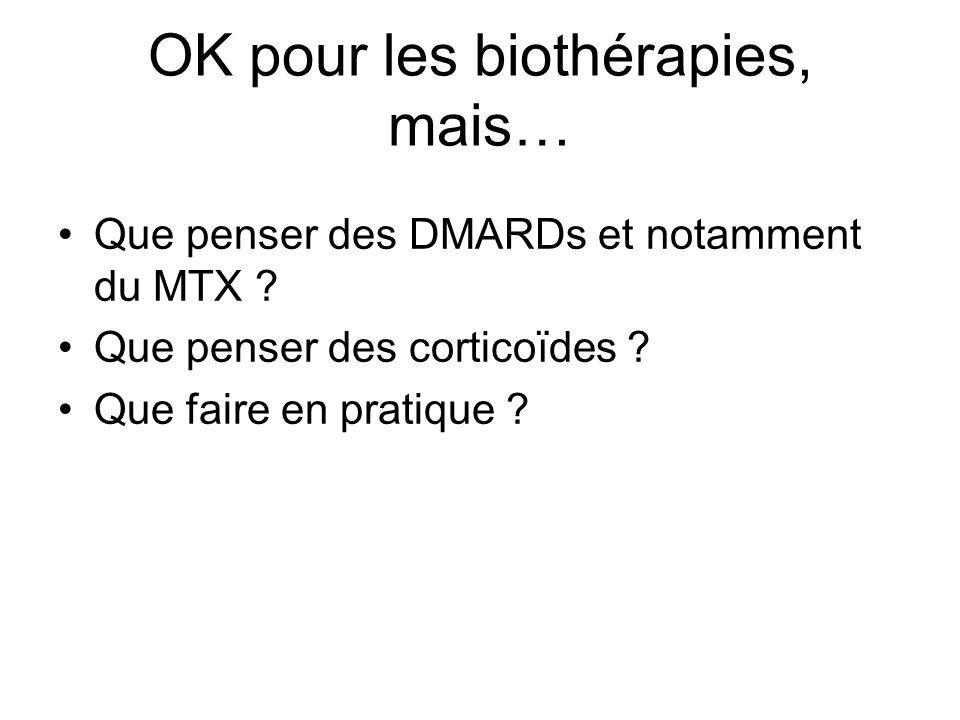OK pour les biothérapies, mais…