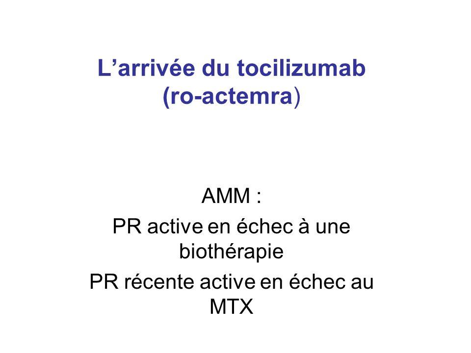 L'arrivée du tocilizumab (ro-actemra)