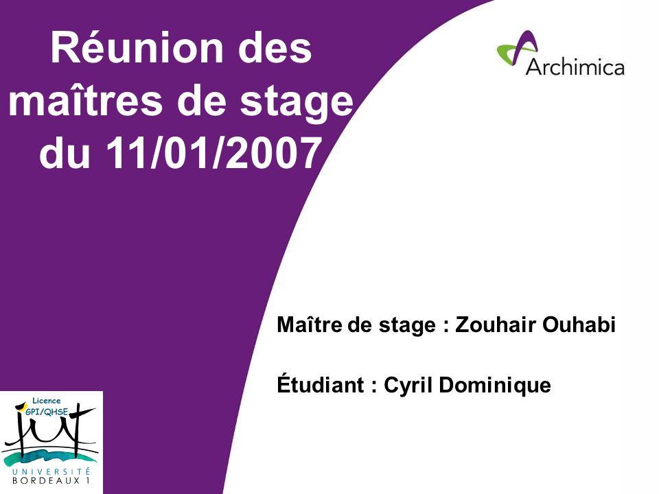 Réunion des maîtres de stage du 11/01/2007