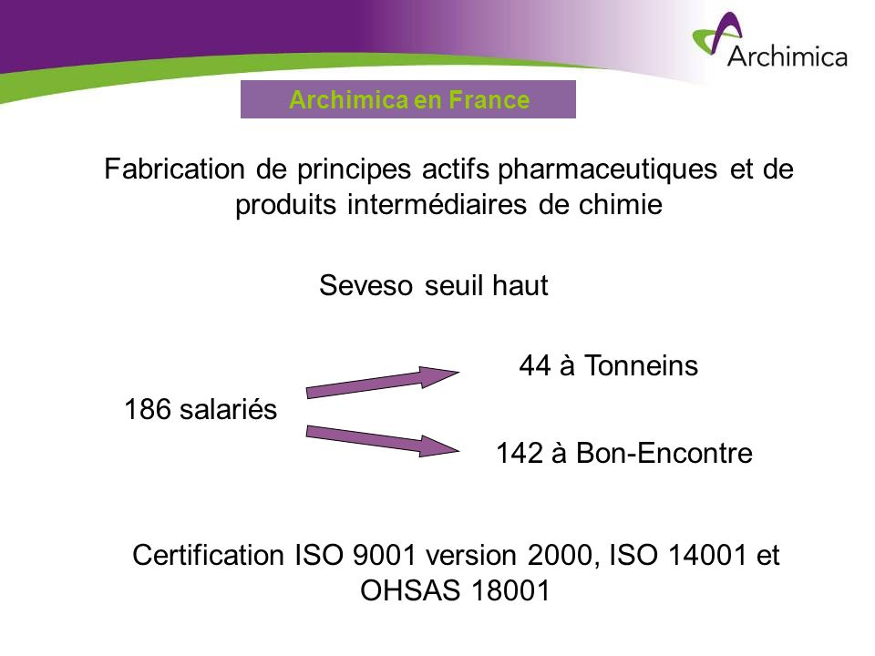 Certification ISO 9001 version 2000, ISO 14001 et OHSAS 18001