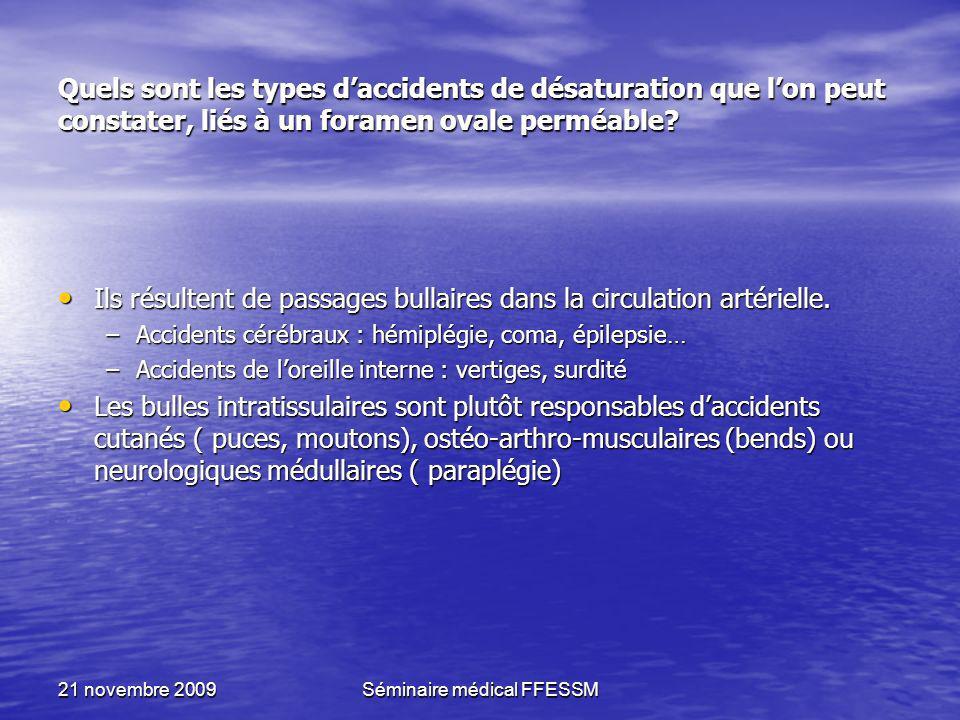 Séminaire médical FFESSM