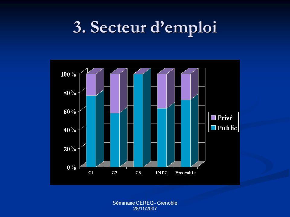 Séminaire CEREQ - Grenoble 28/11/2007
