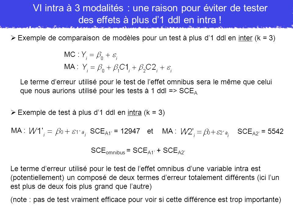 VI intra à 3 modalités : une raison pour éviter de tester des effets à plus d'1 ddl en intra !