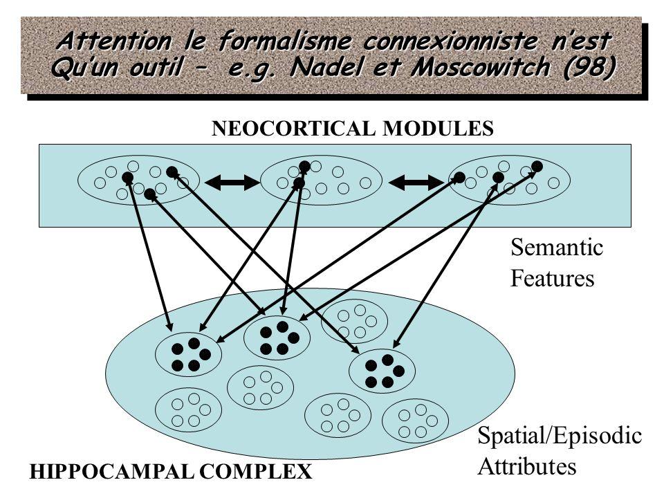 Attention le formalisme connexionniste n'est