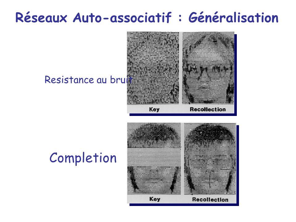 Réseaux Auto-associatif : Généralisation