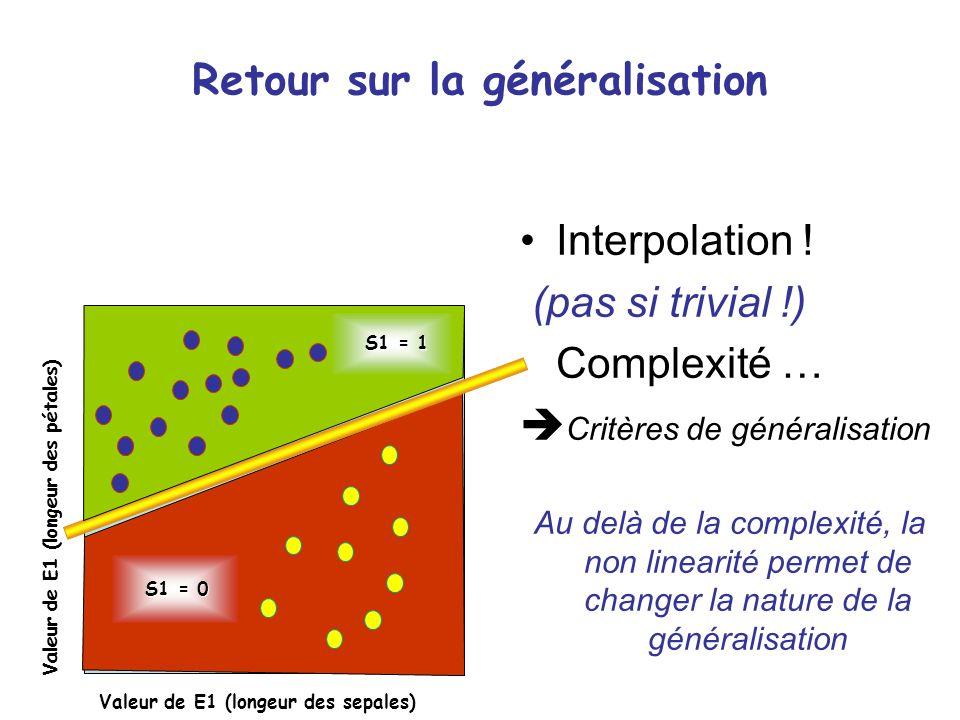 Retour sur la généralisation