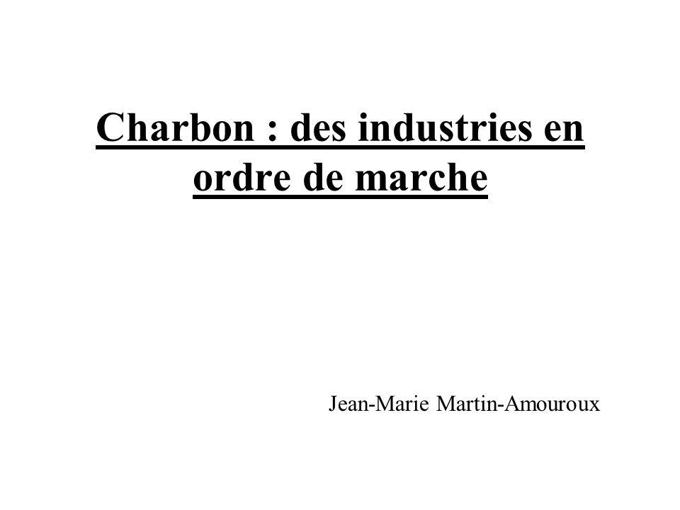 Charbon : des industries en ordre de marche
