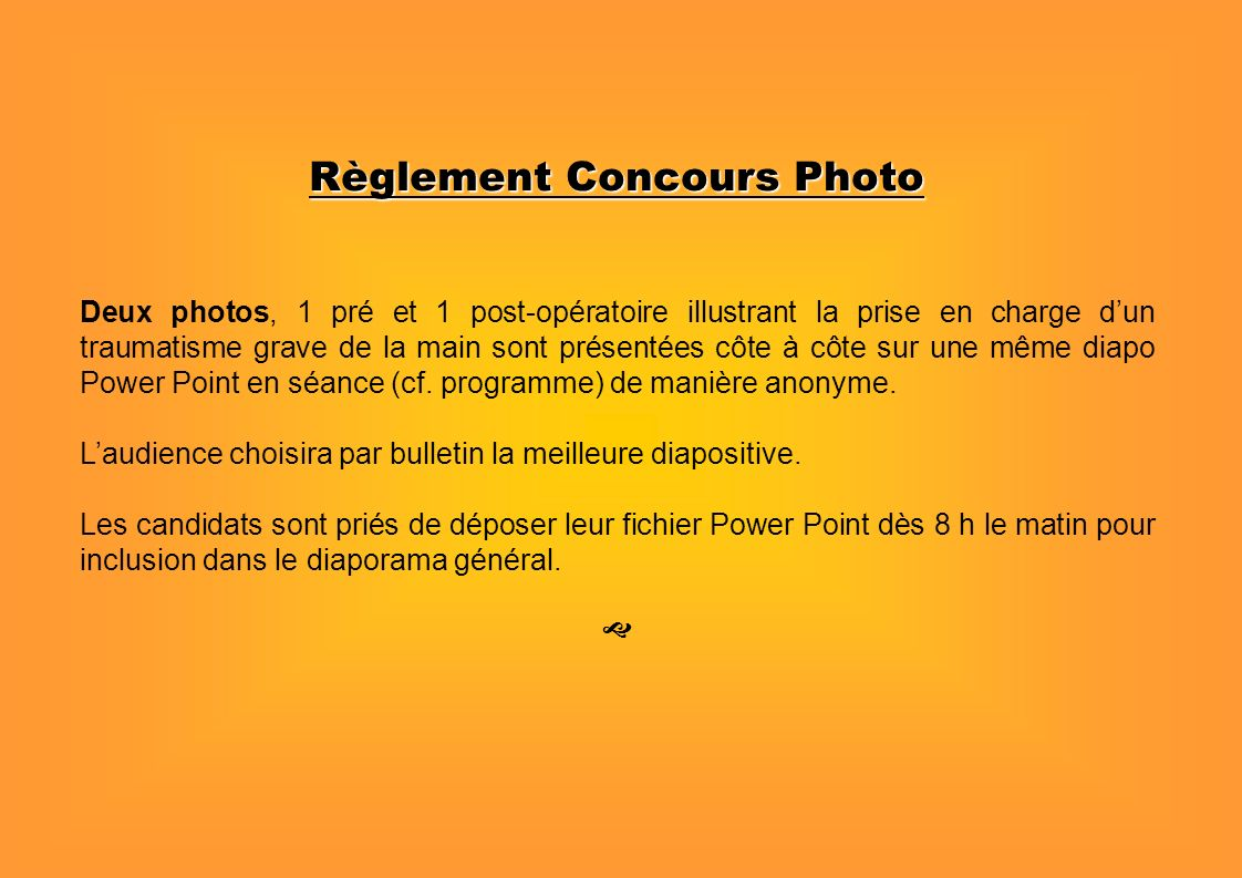 Règlement Concours Photo