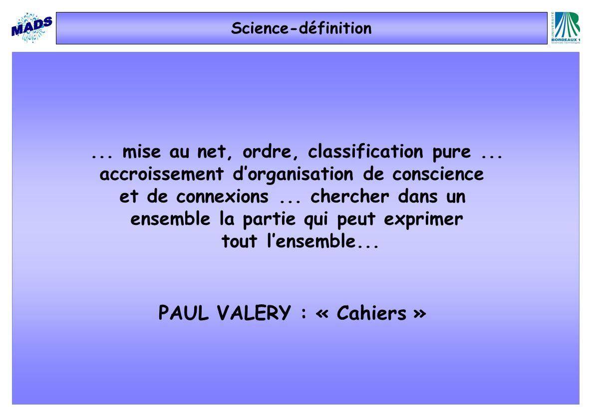 PAUL VALERY : « Cahiers »