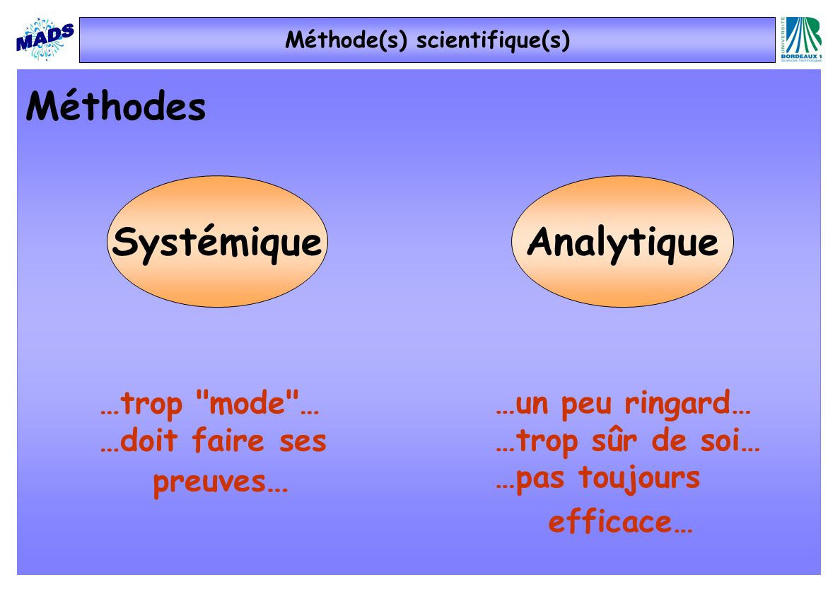 Méthode(s) scientifique(s)