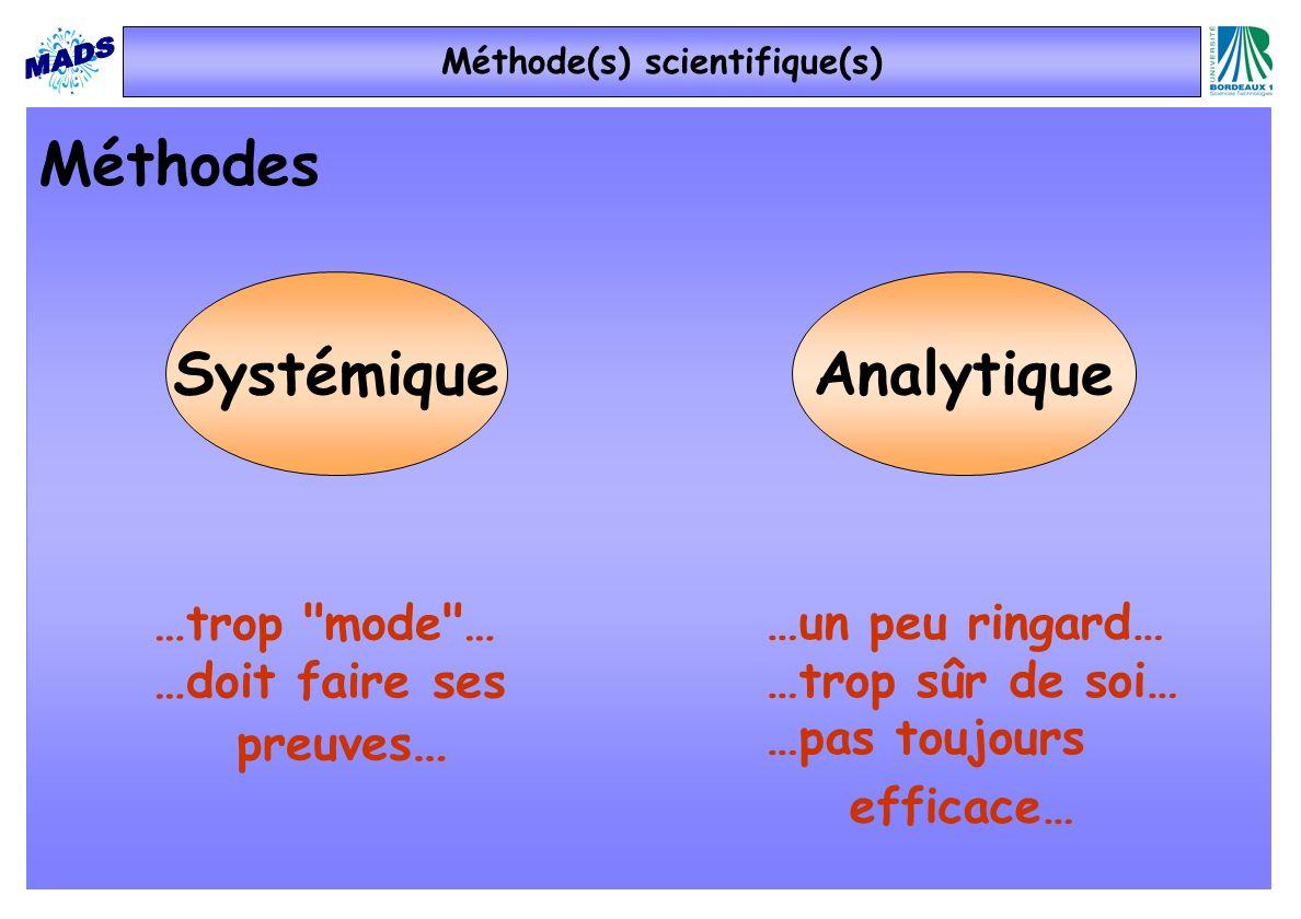 Méthode(s) scientifique(s)