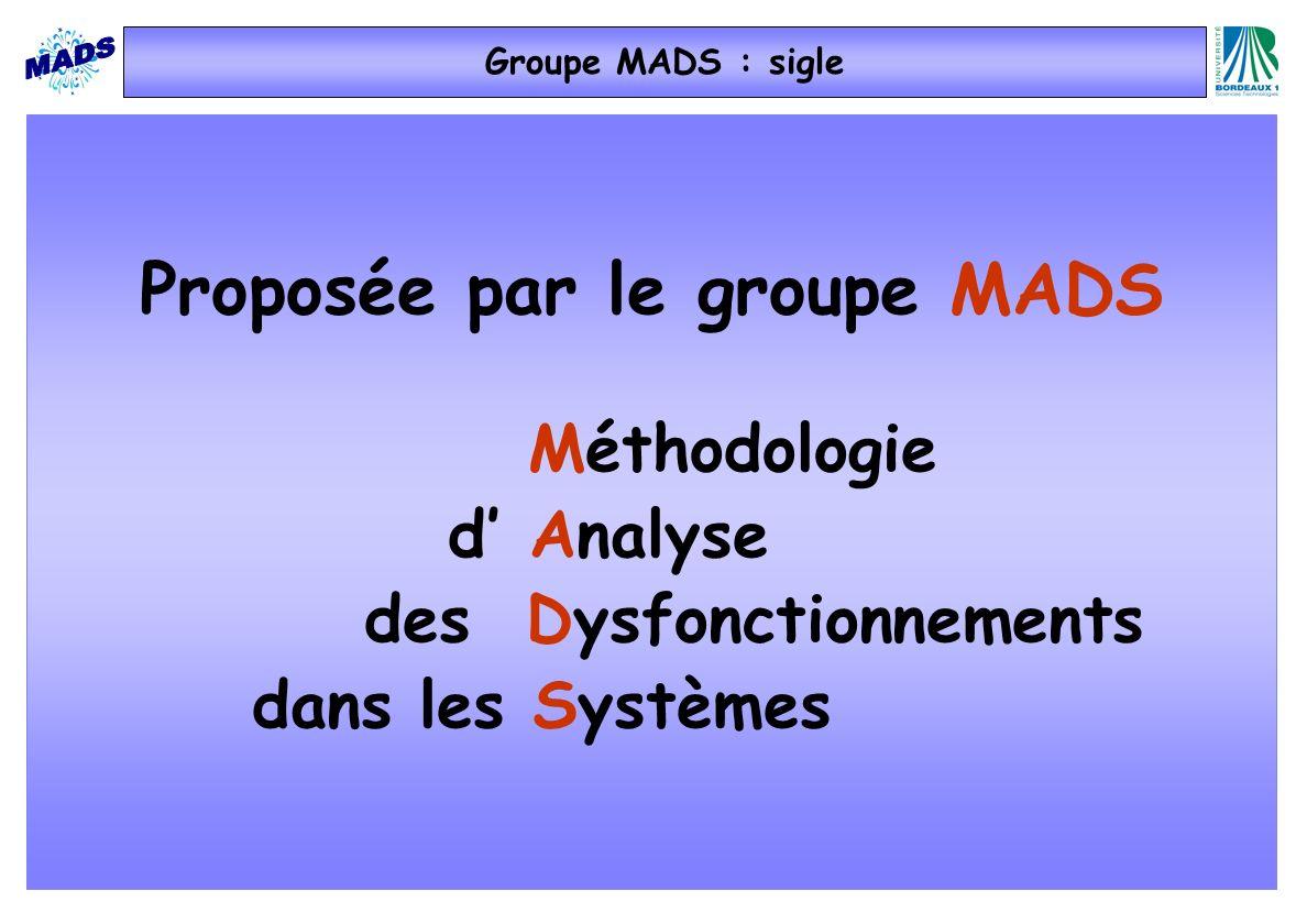 Proposée par le groupe MADS